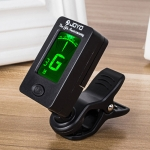 JOYO JT-01 Clip Type Universal String Instrument Tuner Multi-Function Guitar Electronic Tuner with Digital Display, Size: 4.5 x 4 x 2.4cm