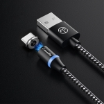 CaseMe Series 2 USB to Type-C / USB-C Magnetic Charging Cable, Length: 1m (Black)