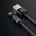 CaseMe Series 2 USB to Micro USB Magnetic Charging Cable, Length: 1m (Black)