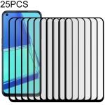 For OPPO A72 25 PCS 9D Full Glue Full Screen Tempered Glass Film