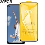 For OPPO A52 25 PCS 9D Full Glue Full Screen Tempered Glass Film