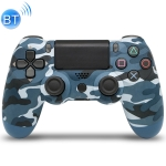 Camouflage Wireless Bluetooth Game Handle Controller with Lamp for PS4, EU Version (Blue)