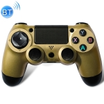 Wireless Bluetooth Game Handle Controller with Lamp for PS4, EU Version(Gold)
