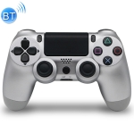 Wireless Bluetooth Game Handle Controller with Lamp for PS4, EU Version(Silver)