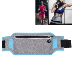 KUULAA KL-YB02 Ultra-thin Waterproof Outdoor Sport Pocket Running Waist Bag for Mobile Phone below 6.5 inch(Blue)