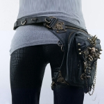 HG061 Punk Style One-shoulder Bag Cross-body Bag Mobile Phone Waist Bag for Ladies, Size: About 27 x 18cm