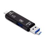 KUULAA KL-O08 5 In 1 Multi-function Type C / USB-C Card Reader, Support Micro USB / TF Card