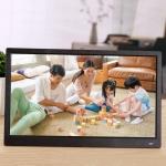 15.6 inch FHD LED Display Digital Photo Frame with Holder & Remote Control, MSTAR V53 Program, Support USB / SD Card Input(Black)