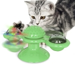 Pet Toy Cat Turntable Funny Cat Toy Scratch Scratching (Green)