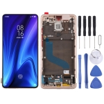 OLED Material LCD Screen and Digitizer Full Assembly with Frame for Xiaomi K20 / K20 Pro / 9T Pro(Gold)