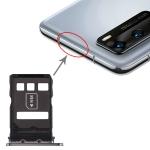 SIM Card Tray + NM Card Tray for Huawei P40 (Black)