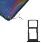 SIM Card Tray + SIM Card Tray / Micro SD Card Tray for Huawei Enjoy 10 Plus (Black)