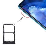 SIM Card Tray + NM Card Tray for Huawei Nova 5z / Nova 5i Pro (Black)