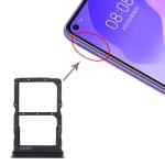 SIM Card Tray + NM Card Tray for Huawei Honor 30S / Nova 7 SE (Black)