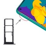SIM Card Tray + SIM Card Tray + Micro SD Card Tray for Huawei Honor Play 4T (Black)