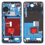 Original Middle Frame Bezel Plate with Side Keys for Huawei P40 (Blue)