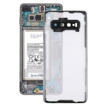 Transparent Back Cover with Camera Lens Cover for Samsung Galaxy S10+ SM-G9750 G975F(Transparent)