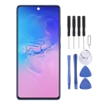 Original Super AMOLED Material LCD Screen and Digitizer Full Assembly with Frame for Galaxy S10 Lite(Black)