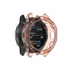 Suitable for Garmin Fenix 6S / 6S Pro transparent TPU Silica Gel Watch Case(Transparent orange)