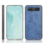 For Meizu 17/17 Pro Shockproof Sewing Cow Pattern Skin PC + PU + TPU Case(Blue)