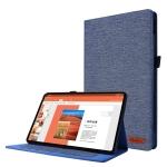 For Huawei Matepad Pro 10.4 Horizontal Flip TPU + Fabric PU Leather Protective Case with Name Card Clip(DeepBlue)