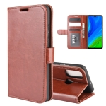 For Huawei P smart 2020 R64 Texture Single Horizontal Flip Protective Case with Holder & Card Slots & Wallet& Photo Frame(Brown)