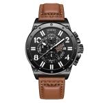 Ochstin 6122 Multi Function Quartz Watch Sports Luminous Waterproof Watch Calendar Leather Men Watch(Coffee)