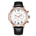 Ochstin 6105 Multi Function Watch Business Leisure Men  Watch Waterproof Timing Quartz Watch Belt Watch(Rose Gold White)