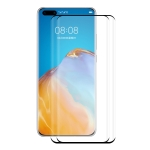 For Huawei P40 Pro 2 PCS ENKAY Hat-Prince 3D Full Screen PET Curved Hot Bending HD Screen Protector Soft Film(Black)