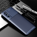 For Huawei Honor 30 Carbon Fiber Texture Shockproof TPU Case(Blue)