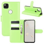 For Google Pixel 4a Litchi Texture Horizontal Flip Protective Case with Holder & Card Slots & Wallet(Green)