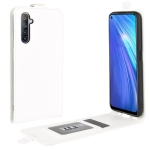For OPPO Realme 6 R64 Texture Single Vertical Flip Leather Protective Case with Card Slots & Photo Frame(White)