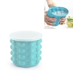 Outdoor Round Ice Bucket Bar with Lid Double Champagne Red Wine Beer Barrel, Size:S(Light Blue)