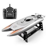 Children Water Toy High-speed Remote Control Boat 7.4 V Large Capacity Battery Speed Boat Racing Boat(Silver gray)