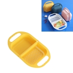 Kitchen Household Creative Folding Fruit Basket Plastic Vegetable Draining Basket(Yellow)