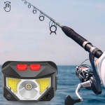 T09-COB LED Glare Headlight Outdoor Lighting USB Charging Sensor Red Light Night Running Mini Fishing Headlight