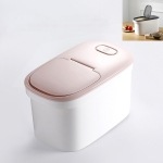 Kitchen Moisture-proof and Insect-proof Sealed Plastic Storage Rice Bucket(Pink)