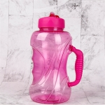 1.5L Large Capacity Outdoor Sports Bottle Space Cup Straw Handle Fitness Plastic Water Cup(Pink)