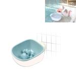 Dog and Cat Anti-choke Feeding Water Hanging Bowl Creative Plastic Pet Bowl, Style:Anti-choke(Blue)