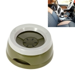 Pet Non-wet Mouth Splash-proof Drinking Fountain Dog Anti-overflow Car Bowl(Army Green)