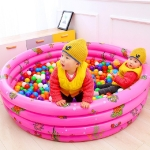 Inflatable Printed Ocean Ball Pool Indoor Game Pool Thickened Paddling Pool, Random Color Delivery, Size:80cm Three Rings