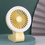 Foldable Handheld Small Fan Multifunctional Night Light Portable Fan(Yellow)