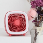 USB Rechargeable Desktop Fan Multifunctional Handheld Pocket Fan(Red)