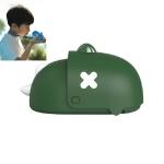 Dinosaur Hanging Neck Fan Charging Mini Portable Handheld Cartoon Electric Fan(Green)
