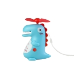 Cute Girl Heart Creative Dinosaur Children Student Portable Handheld Mini USB Small Fan(Blue)