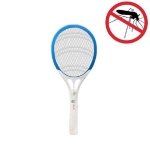 Household High-power Rechargeable Electric Mosquito Swatter, Style:Lithium Battery USB Plug(Blue White)