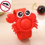 Creative Environmental Protection Silicone Cartoon Baby Anti-mosquito Bracelet Plant Eessential Oil Mosquito Repellent Hand Strap(Crab)