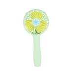 USB Mute Rechargeable Handheld Dormitory Desktop Portable Student Small Electric Fan(Green)