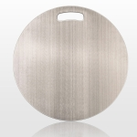 304 Stainless Steel Round Cutting Board Home Kitchen Cutting Board Chopping Board, Size:30x30cm