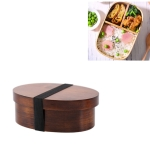 Wood Environmental Protection Tableware Portable Lunch Box Bento Box, Style:Single Layer(Paint Color)